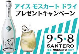 【プレゼント】ロックで楽しむスパークリング! サンテロ アイス モスカート ドライ 958 プレゼントキャンペーン