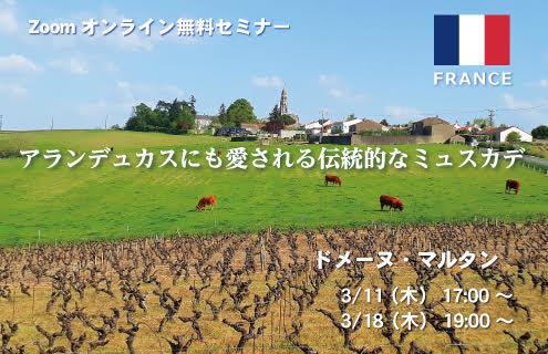 【2021/3/11(木)開催】ドメーヌ・マルタン Zoomオンラインセミナー
