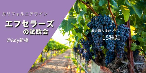 完全予約、少人数制「カリフォルニアワイン!」エフセラーズ試飲&受注会@新橋/ California Wine Tasting Event in Shimbashi