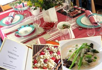 これから夏にむけてもおすすめ。ヨーロッパ母の日に贈るテーブルセット♪