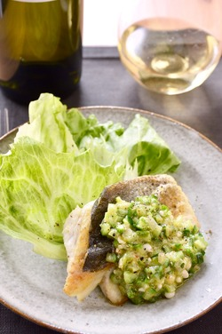 白身魚のソテー 夏野菜ヴィネグレットソース