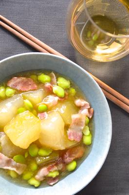冬瓜とベーコンと枝豆のトロトロ煮