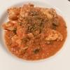 鶏もも肉と黒オリーブのプッタネスカ風煮込み