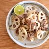 豚肉とレンコンのナンプラー炒め