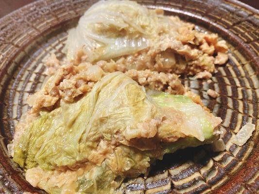 白菜と挽肉のミルフィーユ