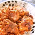 塩豚とお豆のトマト煮込み
