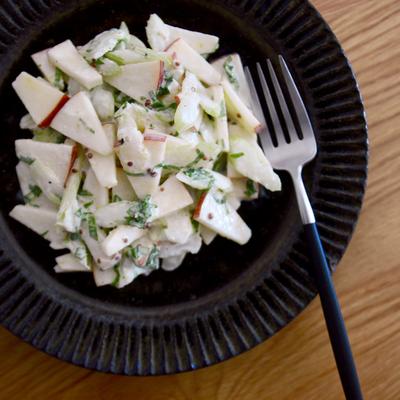 リンゴとセロリのマスタードサラダ