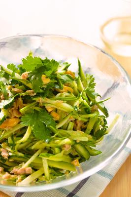 きゅうりとパクチーのエスニック風サラダ