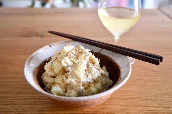 梅風味の白いポテトサラダ