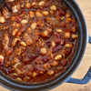 牛すじとお豆の赤味噌トマト煮込み