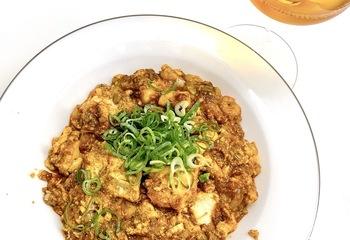 カレー風味の海鮮麻婆豆腐