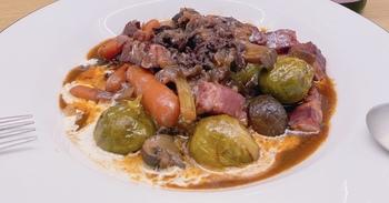 薄切り肉のブフ・ブルギニヨン