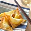 ガリとチーズの揚げワンタン