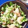 セリとクレソンと焼きカブのサラダ ピーナッツドレッシング
