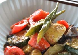 夏野菜の梅味噌炒め