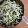 ロメインレタスときゅうりとしらすのサラダ バジルヨーグルトドレッシング