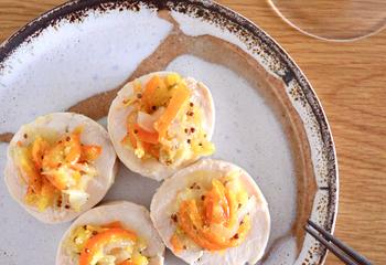 鶏ハム 金柑と生姜のソース