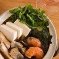 魚介と高菜漬けと豆豉の鍋